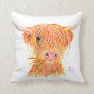 Highland Cow 'Fergus' Cushion by Shirley MacArthur