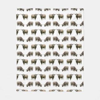 Highland Cow Frenzy Fleece Blanket (choose colour)