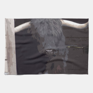Highland Cow Hand Towel