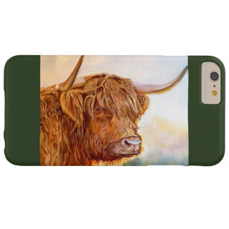 Highland Cow Ipod 6 cover - green