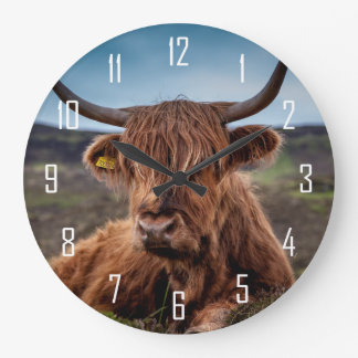 Highland Cow Large Clock