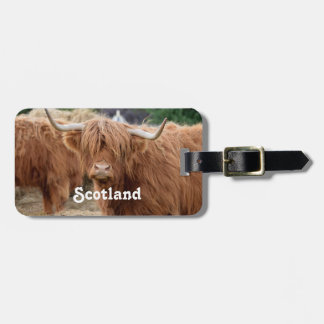 Highland Cow Luggage Tag