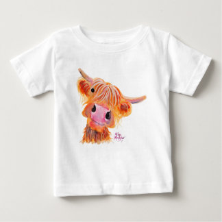 Highland Cow ' Nessie ' Baby T-Shirt Top