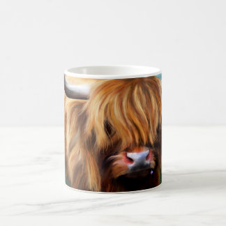 Highland Cow Painting Coffee Mug