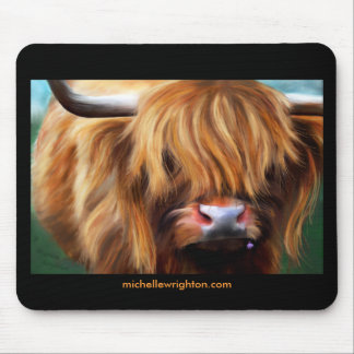 Highland Cow Painting Mouse Mat