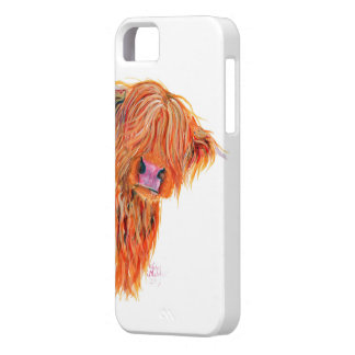 Highland Cow 'Peekaboo' for Iphone and Samsung iPhone 5 Cover