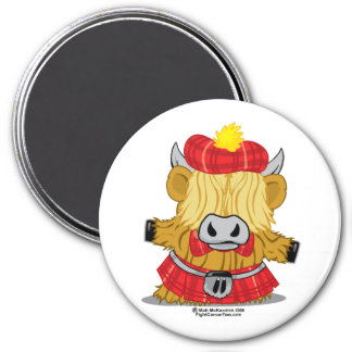Highland Cow Red Kilt Magnet