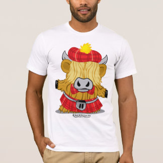 Highland Cow Red Kilt T-Shirt