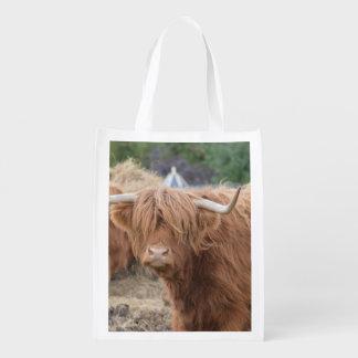 Highland Cow Reusable Grocery Bag