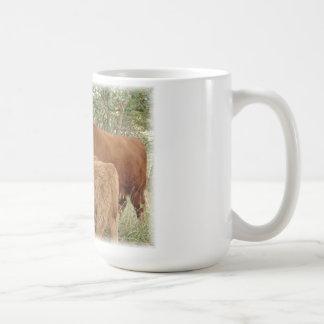 Highland Cow with Calves Coffee Mug