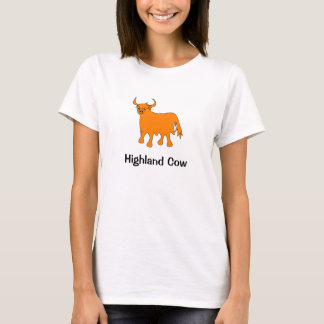 Highland Cow womens t shirt design
