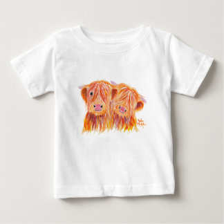 Highland Cows 'Buddies' by Shirley MacArthur Baby T-Shirt