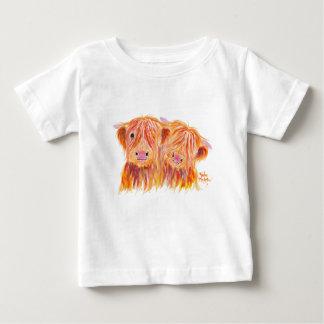 Highland Cows 'Buddies' by Shirley MacArthur Baby T-Shirt