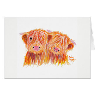 Highland Cows 'Buddies' by Shirley MacArthur Card