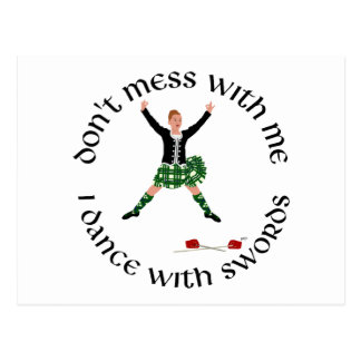 Highland Dance - Don t Mess with Me Postcards