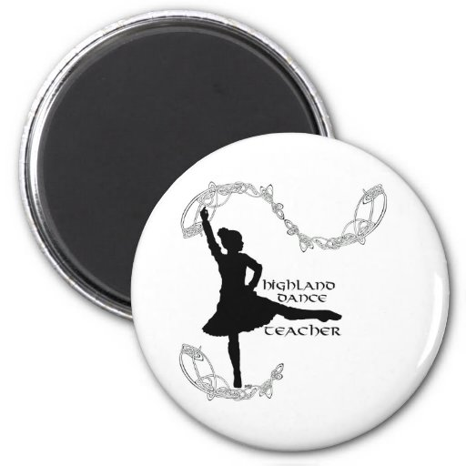 Highland Dance Teacher - Black Silhouette Refrigerator Magnet
