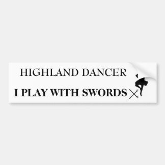 highland dancer b bumper stickers