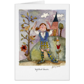 Highland Dancer Card