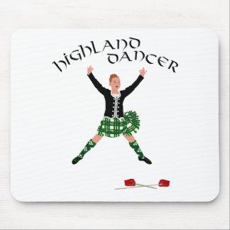 Highland Dancer Ghillie Callum Sword Dance Mouse Pads