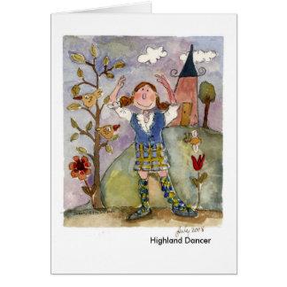 Highland Dancer Greeting Card