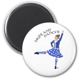 Highland Dancer in Blue 6 Cm Round Magnet