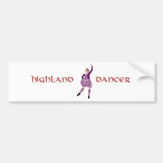 Highland Dancer Pink Aboyne Bumper Sticker