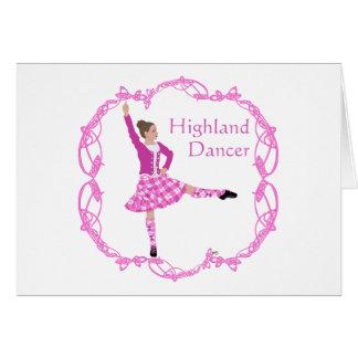 Highland Dancer Pink Aboyne Card