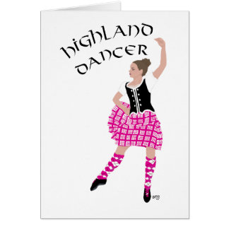 Highland Dancer Pink Card