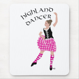 Highland Dancer Pink Mouse Mat