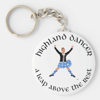 Highland Dancers - a Leap Above the Rest Basic Round Button Key Ring