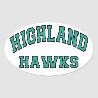 Highland Hawks Oval Sticker