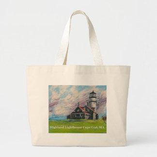 Highland Lighthouse Cape Cod, MA Large Tote Bag