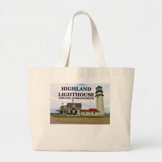 Highland Lighthouse, Cape Cod, Massachusetts Large Tote Bag