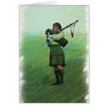 Highland Morning Music Bagpipe Greeting Card