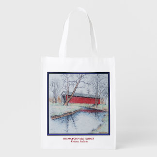 Highland Park Bridge Reusable Grocery Bag
