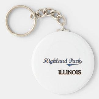 Highland Park Illinois City Classic Key Ring
