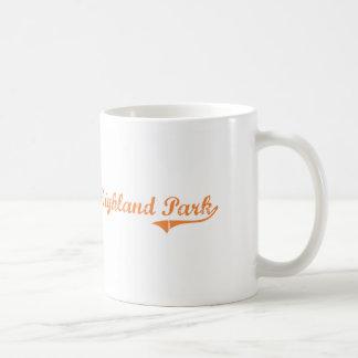 Highland Park Illinois Classic Design Basic White Mug