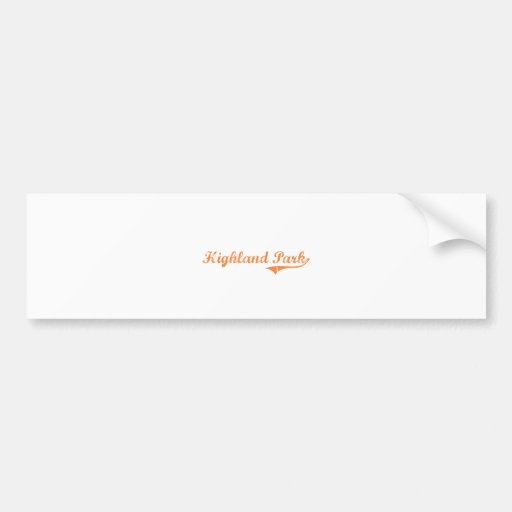 Highland Park Illinois Classic Design Bumper Stickers