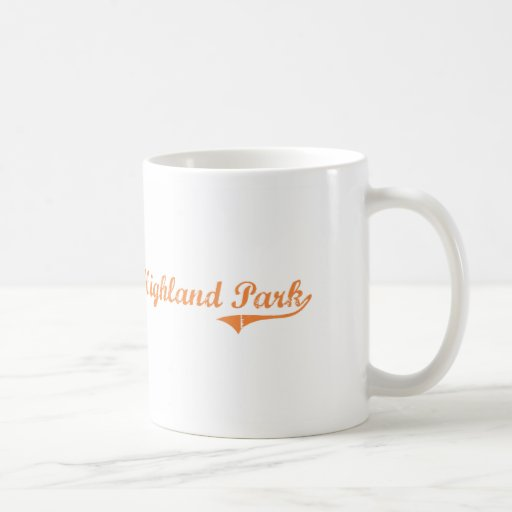 Highland Park Illinois Classic Design Coffee Mugs