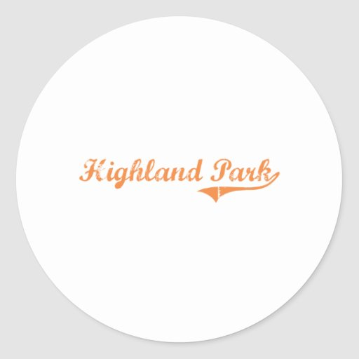 Highland Park Illinois Classic Design Round Stickers