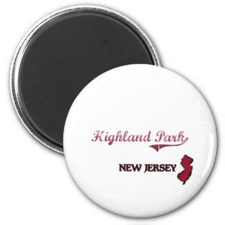 Highland Park New Jersey City Classic 6 Cm Round Magnet