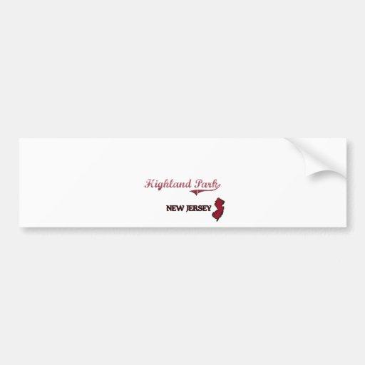 Highland Park New Jersey City Classic Bumper Sticker