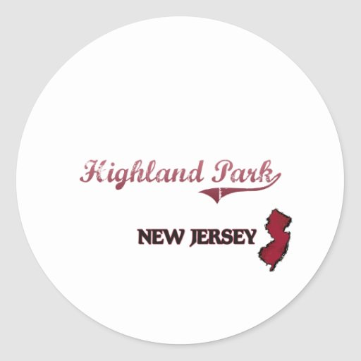 Highland Park New Jersey City Classic Round Sticker