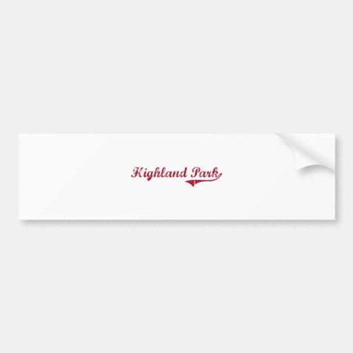 Highland Park New Jersey Classic Design Bumper Sticker