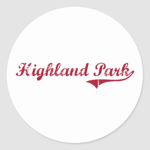 Highland Park New Jersey Classic Design Round Stickers