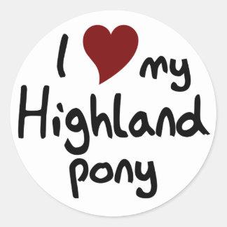 Highland pony stickers