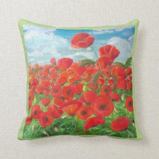 Highland Poppies Cushion