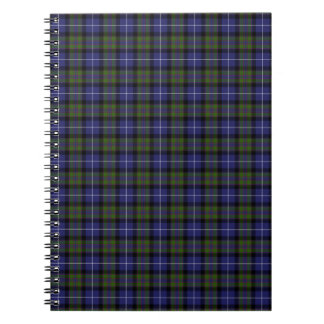 Highland Pride Of Scotland Tartan Spiral Notebook