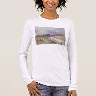 Highland Scene near Dalmally, Argyll (w/c on canva Long Sleeve T-Shirt