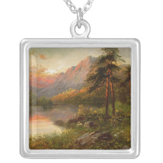 Highland Solitude Silver Plated Necklace